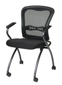 Office Star Deluxe Breathable ProGrid Back FreeFlex Coal