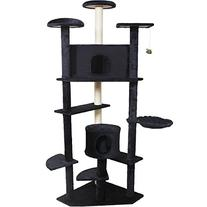 "Pingkay Deluxe 80"" Cat Tree Condo Furniture Scratch Post Pet"