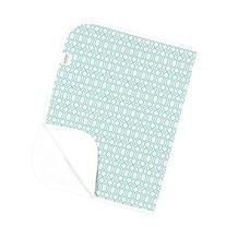 Kushies Deluxe Changing Pad Flannel, Turquoise Octagon