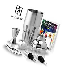 5 Piece Deluxe Cocktail Shaker Bar Set by Bar Brat ™ /