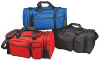"""19"""" Deluxe Sports Duffle Bag w/ Multiple Pockets in Red"""