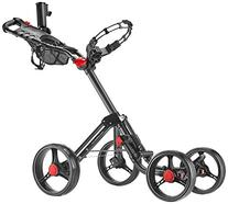 CaddyTek Deluxe Explorer 4-Wheel Golf Push Cart, Dark Grey