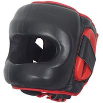 Ringside Deluxe Face Saver Boxing Headgear, Black, Small/