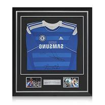 Deluxe Framed Frank Lampard And Didier Drogba Signed Chelsea