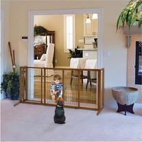 Richell Deluxe Freestanding Pet Gate With Door - Medium