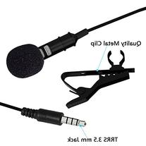 Deluxe Lavalier Lapel Microphone Clip-on Omnidirectional