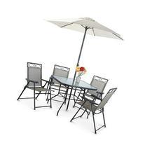 6 piece Deluxe Outdoor Patio Dining Set
