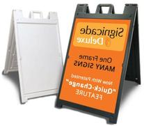 Deluxe Signicade A-Frame Sidewalk Curb Sign with Quick-