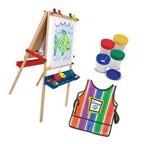 Melissa & Doug Deluxe Standing Easel with Artist's Smock and