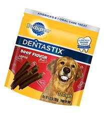 Pedigree Dentastix Large Dental Dog Treats Beef Flavor, 1.72