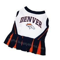 Pets First Denver Broncos NFL Team Pet Dog Cheerleader