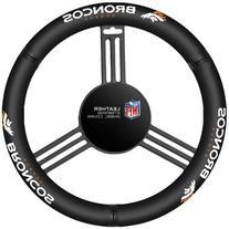 NFL Denver Broncos Leather Steering Wheel Cover