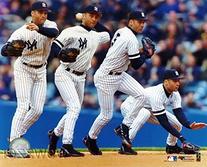 Derek Jeter Yankees FHOF MLB Hologram 8x10 Color Glossy
