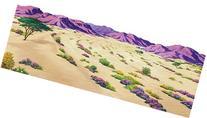 """Desert Overlay Large Felt for 32"""" X 48"""" Flannel Board"""