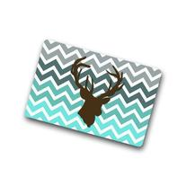 Best Designed - Turquoise Chevron Deer head Machine-washable