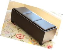 Home Life Designs-4-Comfort Tribeca Ottoman with 3 Tray Tops