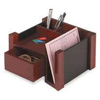 -- Desk Director, Wood, 7 1/8 x 6 3/4 x 4 1/8, Black/