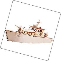 Desktop Wooden Model Kit Coast Guard Cutter