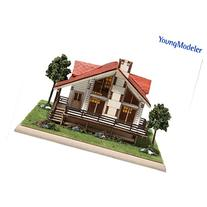 Desktop Wooden Model Kit Story House