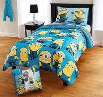 Despicable Me 4-Piece Twin Bedding Set Comforter and Sheet