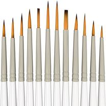 Detail Paint Brush Set - 12 Miniature Brushes for Art