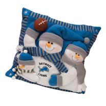 Detroit Lions Snowman Family Pillow