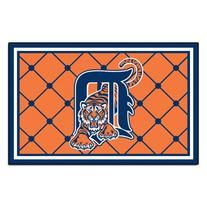 FANMATS MLB Detroit Tigers Nylon Face 5X8 Plush Rug