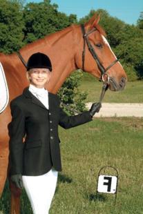 Devon-Aire Nouvelle Stretch Ladies Dressage Coat, Black,