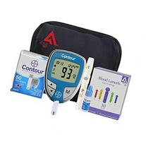 Diabetes Testing Kit (Bayer Contour Meter 50 Contour Test Strips 50 Active1st 30g Lancets Lanc