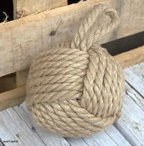 6 Inch Diameter Monkey Fist Sailor Knot Doorstop