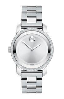 Women's Movado 'Bold' Diamond Bezel Bracelet Watch, 36Mm