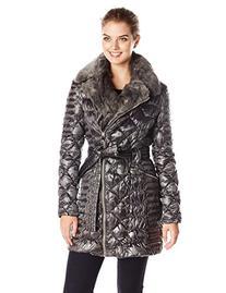 Via Spiga Women's Diamond Quilted Down Coat with