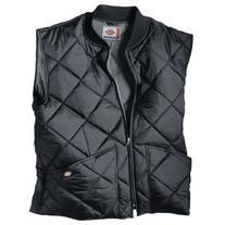 Dickies Men's Diamond Quilted Nylon Vest, Black, Large