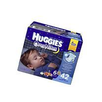 Huggies Overnites Diapers, Big Pack, Size 6, 42 ea