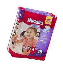 Huggies Little Movers Diapers Jumbo, Size 6, Over 35 lbs,