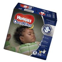 Huggies Overnites Diapers, Big Pack, Size 4, 56 ea