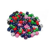 Dice - Big Bag of 102 Assorted D6 Die by Monster - Assorted