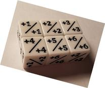6x Dice Counters White +1/+1 for Magic: The Gathering and
