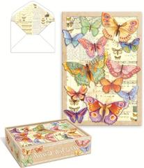 Punch Studio Die-Cut Butterfly Note Cards -- Set of 10 Blank