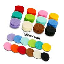 48 Pcs Essential Oil Diffuser Locket Necklace Refill Pads /