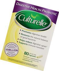 Culturelle Digestive Health Probiotic - 2 Boxes, 80 Capsules