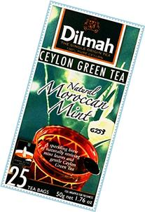 Dilmah Tea, Ceylon Green Tea with Natural Moroccan Mint, 20-