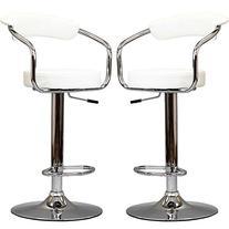 Diner Bar Stools Set of 2 in White