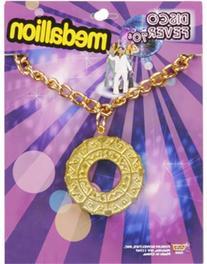 Disco Medallion Necklace