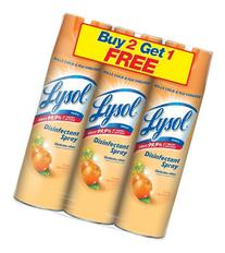 Lysol Disinfectant Spray, Citrus Meadows, 19 Ounce, 3 Count
