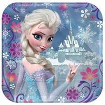 Disney Frozen Princess Anna Elsa 7 Dessert Plates Birthday