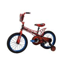 "Disney Marvel Spiderman 16"" Boy's Bike with Webbed Frame"