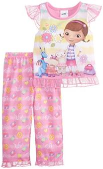 Komar Little Girls'  Doc Mcstuffins Pajama Set, Pink, 2T