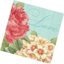 Amscan Disposable Beverage Napkin in Blissful Blooms Print