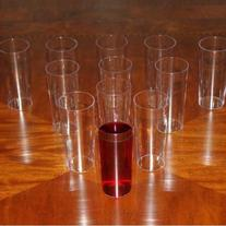Disposable Plastic Straight Wall Shooter Cups - 5 oz: Pack
